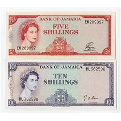 Bank of Jamaica, 1961 and 1964 Banknote Pairing