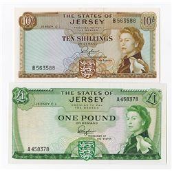 States of Jersey, 1963, Banknote Pairing