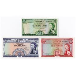 States of Jersey, 1963 to 1972, Banknote Assortment