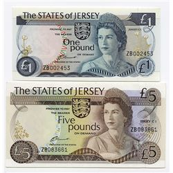 "States of Jersey, ""ZB"" Replacement Pair."
