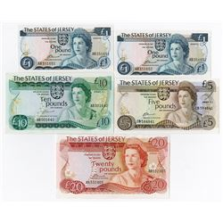 States of Jersey, 1976 to 1988, Banknote Assortment