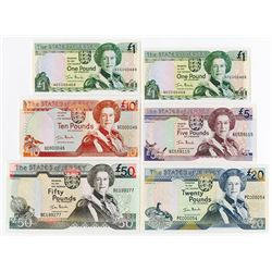 States of Jersey, 2000, Banknote Assortment Includes Low Serial Numbers