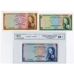 Government of Malta, 1961 to 1963 Banknote Assortment