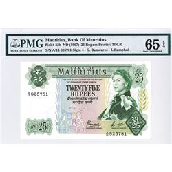 Bank of Mauritius, ND (1967) Issue Banknote.