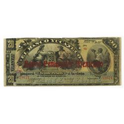 Banco Peninsular Mexicano/Banco Yucateco 1907 Issued Banknote