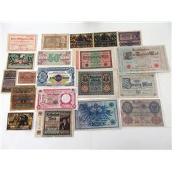 Assorted European & Other Issuers, 1908-1963, Group of 40+ Issued Notes.
