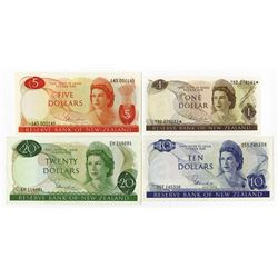 Reserve Bank of New Zealand, 1967 to 1981 Banknote Assortment