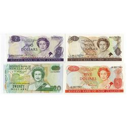 Reserve Bank of New Zealand, 1977-1999 Replacement Banknote Issue Quartet.