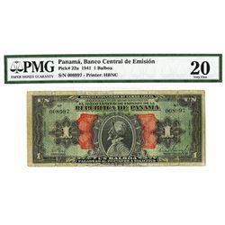 Republica De Panama, 1941 Issued Banknote.