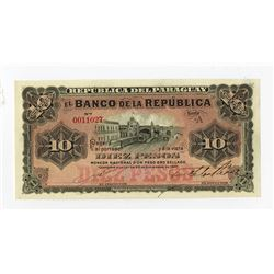 Banco de la Republica, 1907, Issued Banknote.