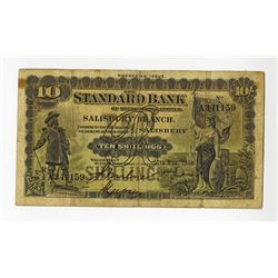 Standard Bank of South Africa, Salisbury Branch, Rhodesian Issue, 1933 Issued Banknote.