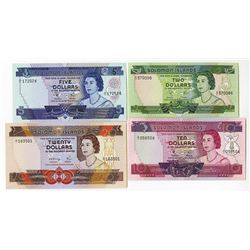 Solomon Islands Monetary Authority, 1971, 1981 ND Issue Quartet.