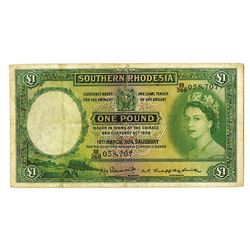 Southern Rhodesia, 1954 Issue Banknote.