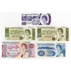 Government of St. Helena, Lot of 5 notes, ca.1976 to 1981.