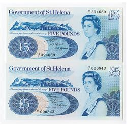 Government of St. Helena, 1976, Banknote Pairing