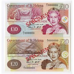 Government of St. Helena, 2004 Issue Specimen Pair of Notes.