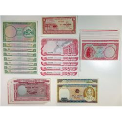 Viet Nam & Cambodia, Lot of over 70 Notes, many uncirculated.