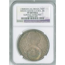 Brazil. Minas Gerais, 1808, 960 Reis, KM-424.