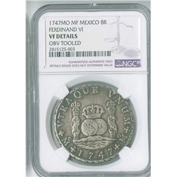 Mexico. 1747MoMF, 8 Reales.