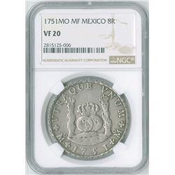 Mexico. 1751MoMF, 8 Reales.