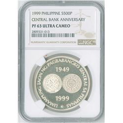 Philippines. Cent'l Bank Anniv, 1999, 500 Piso, KM-275.