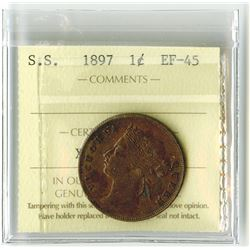 Straits Settlements, 1897 1 Cent, ICCS EF-45.