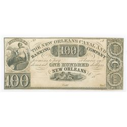 New Orleans Canal and Banking Co., 18xx (ca.1840's) Remainder Obsolete Banknote.