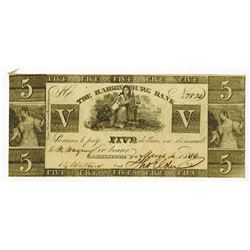 Harrisburg Bank, 1836 Issued Contemporary Counterfeit Obsolete Banknote.