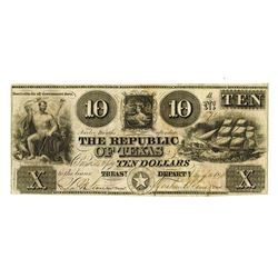 Republic of Texas, 1840 Obsolete Banknote.
