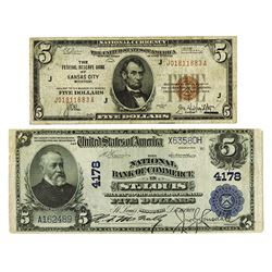 Missouri National Banknote & F.R.N Pair