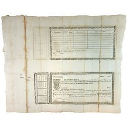 War of 1812 Capital Funded Stock Receipt Remainder Tete Beche Pair.
