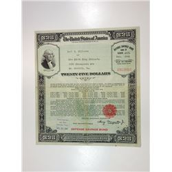 U.S. Defense Savings Bond, December 31, 1941 Issued Bond.