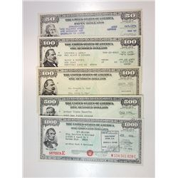 U.S. Savings Bonds, Series E, 1958-1975 Bond Assortment.