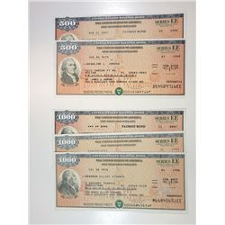 U.S. Savings Bonds, Series EE Patriot Bonds, 1992-2006 Bond Assortment.