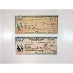 U.S. Savings Bonds, Series EE Patriot Bonds, 1992-2008 Bond Pair.
