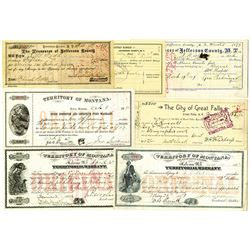 Montana Territory Warrant assortment, ca. 1871-1893.