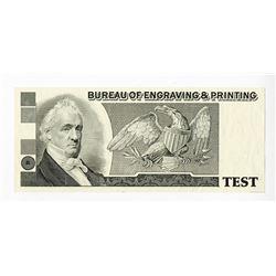 Bureau of Engraving & Printing, ca.1980-1990 Proof Advertising Note.