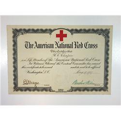 American National Red Cross Member Certificate 1917