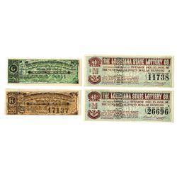Louisiana Lottery Ticket Assortment, ca.1887-1891.