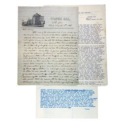 Letter from B.H. Thompson to Wife, 1840