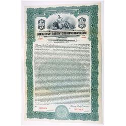 Murray Body Corp., 1924, $1000 Specimen Bond.