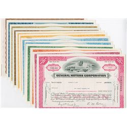 General Motors Corp., Lot of 15 Different GM Corp Stock Certificates.