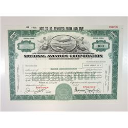 National Aviation Corp., 1970 Specimen Stock.