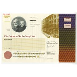 Goldman Sachs Group, Inc., 1998 I.P.O.  Specimen Stock Certificate.