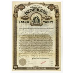 The United States Loan & Trust Co.,1892 Specimen 6% Registered Income Bond.
