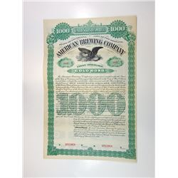 American Brewing Co., 1895 Specimen Bond