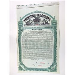 Keystone Telephone Co., 1905 Specimen Bond