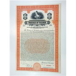 Province of Tucuman, 1927 Specimen Bond