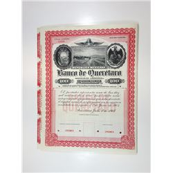 Banco de Queretaro, 1903 Specimen Bond