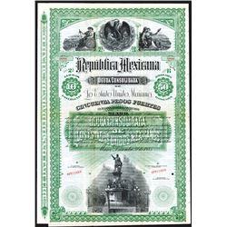 Republica Mexicana, Deuda Consolidada De Los Estados Unidos, Mexicanos, Specimen Bond.